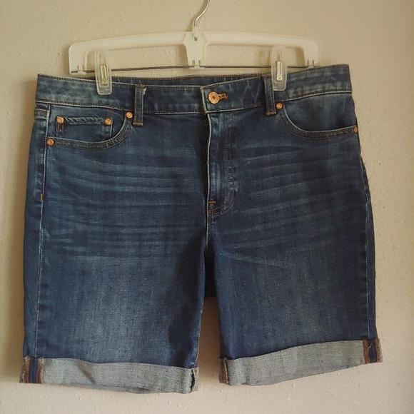 Talbots Pants - Talbots Girlfriend Cut Off Denim Jean Shorts